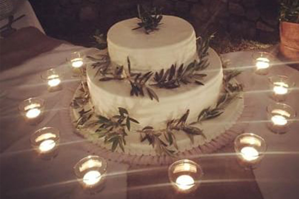 An olive themed wedding ceremony